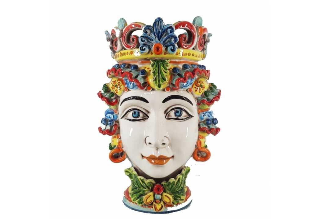 Ceramica Caltagirone: i colori delle teste di moro